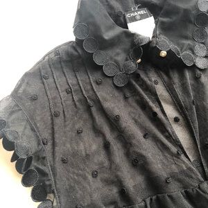 CHANEL Pearl Button Top